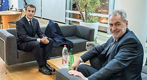 Mercredi 14 février, Christian Favier a reçu en fin de journée la visite d'Emmanuel Macron, Président de la République.