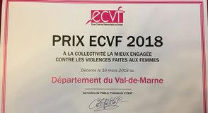 Le Conseil départemental du Val-de-Marne reçoit le prix de la collectivité territoriale la mieux engagée contre les violences faites aux femmes.