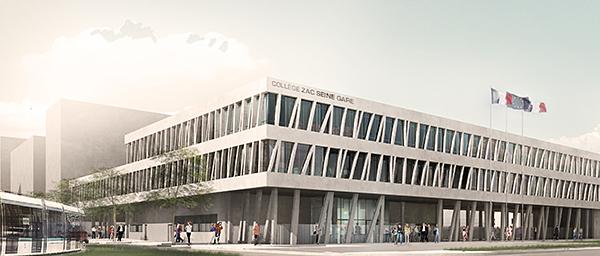 Le nouveau collège Seine-Gare à Vitry-sur-Seine, c'est parti!