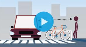Depuis septembre 2018, le Département expérimente un nouvel aménagement de voirie à Ivry-sur-Seine: traversées piétonnes sécurisées et nouvelles places de stationnement vélo.