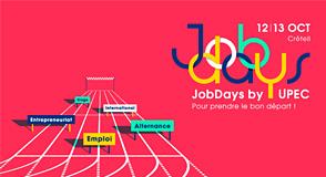 Les 12 et 13 octobre, ne manquez pas les JobDays by UPEC: c'est l'événement de la rentrée pour aider les étudiant·es à préparer leur insertion professionnelle.