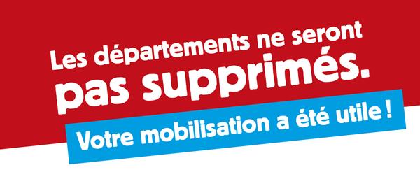 Grâce à votre mobilisation, vos services publics départementaux continuent