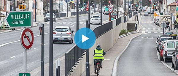Inauguration festive des rampes de la RD7 à Villejuif