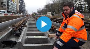 Les 1ers rails du Tram9 viennent d'arriver! D'ici 2020, il reliera Paris à Orly: un investissement départemental de 131 millions €.