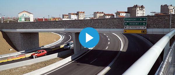 Nogent-sur-Marne: un nouveau pont sur l'autoroute A4