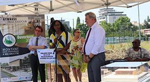 Le 28 juin dernier, le Département participait à la pose de la première pierre du futur gymnase Paule Baudouin à Boissy-Saint-Leger.