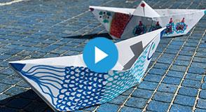 Jusqu'au 30 novembre 2019, relevez le challenge #DemainLaBièvre en fabriquant votre bateau en origami!