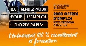 Vous cherchez un emploi? Rendez-vous le 17 octobre à Orly-Paris: 2000 offres d'emploi sont proposées.