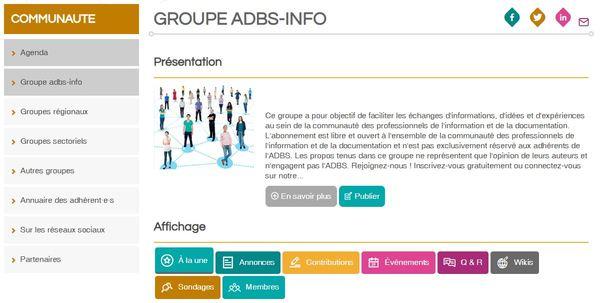 NOUVEAU • Le site adbs.fr évolue et facilite votre participation!