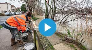 Le Département est actuellement en vigilance en raison de la montée des niveaux de la Seine et de la Marne.