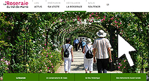 La Roseraie ouvre ses portes le 6 mai. Préparez votre visite dès à présent sur roseraie.valdemarne.fr